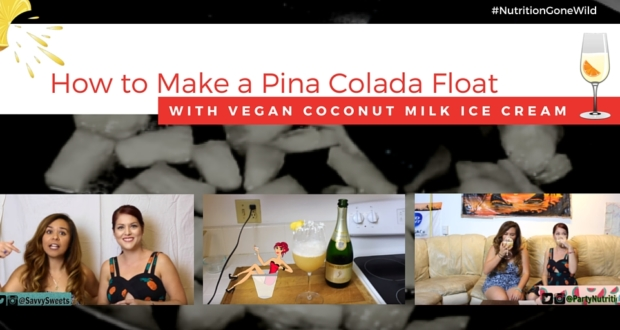How to Make A Vegan Coconut Milk Ice Cream Pina Colada Float | Nutrition Gone Wild